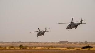 NH90 Caiman transport helicopters  taking off from Gao airport in Mali (illustrative purposes)