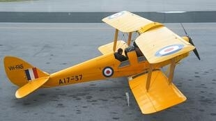 A de Havilland Tiger Moth plane