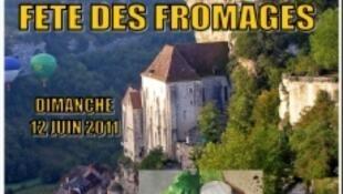 Festa do Queijo na cidade de Rocamadour no sul da França.