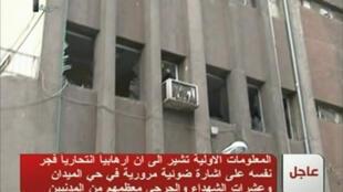 Здание, поврежденное терактом в Дамаске 6 января 2012 г.