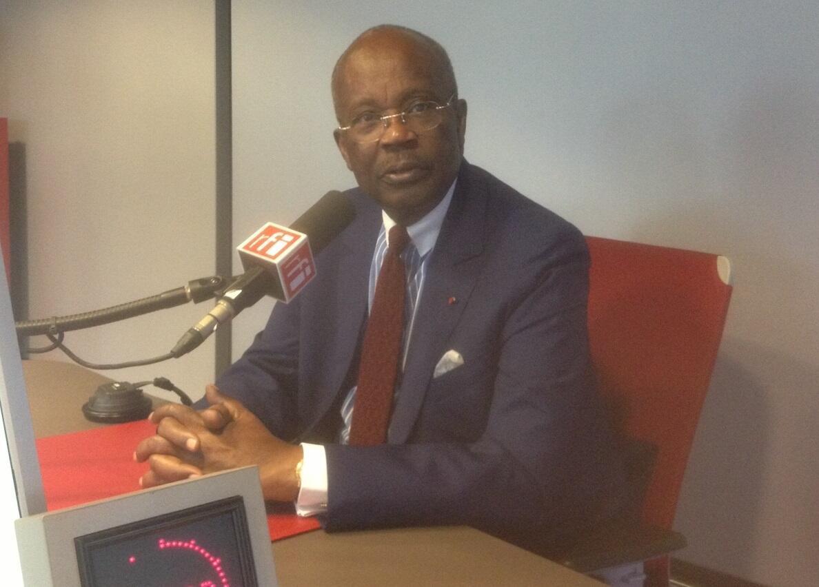 Casimir Oyé Mba, le 16 juin 2016 dans les studios de RFI.