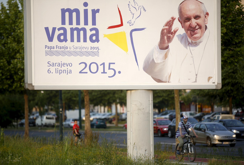 Sarajevo se prépare à accueillir le pape François, le 4 juin 2015.