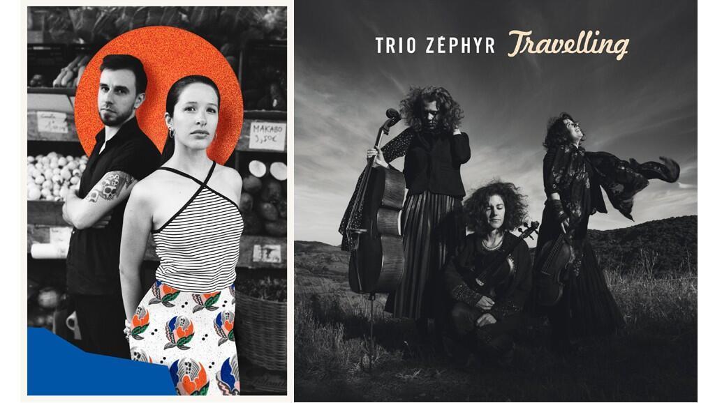 Montage photo de Ëda et de Trio Zéphyr, couverture de leur dernier album.