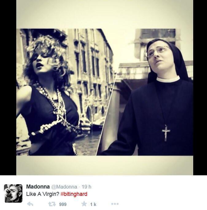 """Madonna và Sơ Cristina ghi âm hai phiên bản rất khác nhau của bài """"Like a Virgin"""" - DR"""