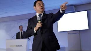 Carlos Ghosn, PDG de Renault, en février 2016. En 2015, il a empoché 15 millions de dollars.