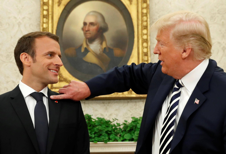 Donald Trump y Emmanuel Macron durante su encuentro en la Casa Blanca.