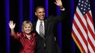 Tổng thống Obama tại buổi gây quỹ tranh cử cho TNS Barbara Boxer tại California ngày 22/10/10.