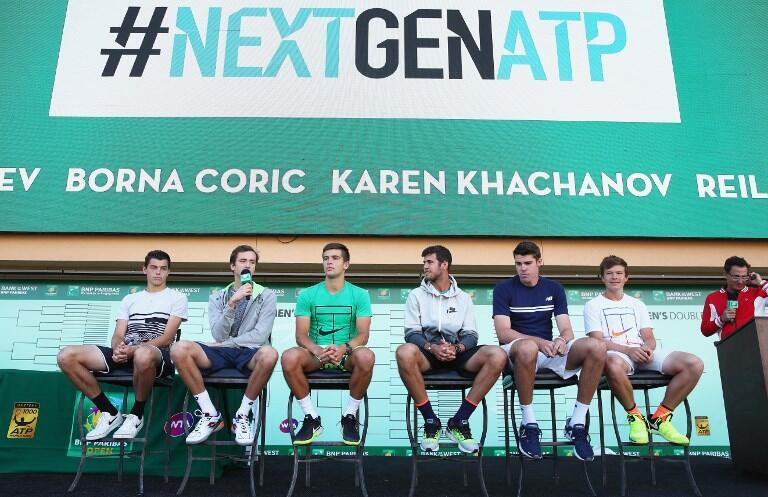 The ATP NextGen Milan draw ceremony made players select models to determine their group. March 7 2017