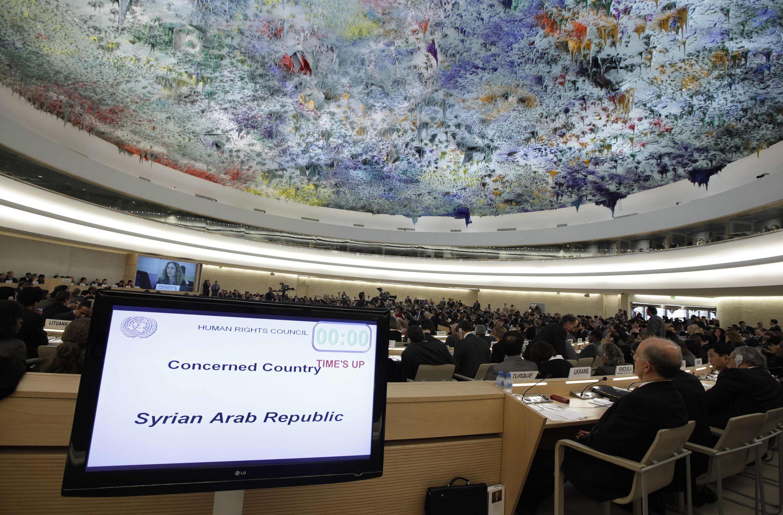Assembléia-geral da ONU que se reuniu para discutir a situação da Síria, nesta quarta-feira.
