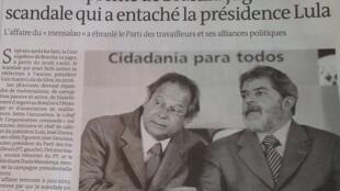 O jornal Le Monde traz matéria sobre o início do julgamento do mensalão, nesta quarta-feira.