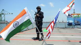 Hải quân Ấn Độ ở ngoài khơi phía nam, cùng với hải quân Mỹ và Nhật Bản, tháng 07/2017