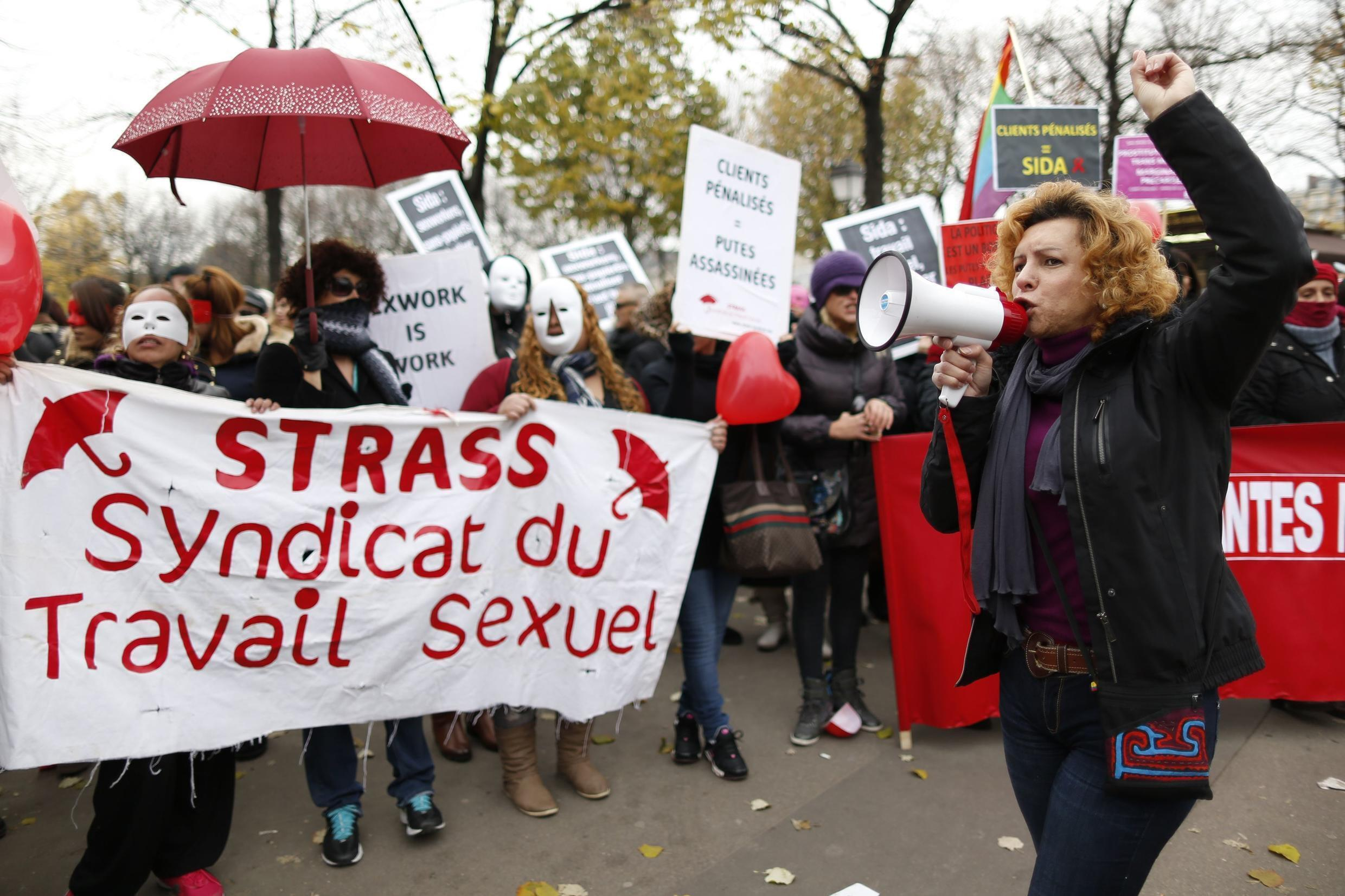 Sex workers are protesting in Paris on this 29 November, 2013