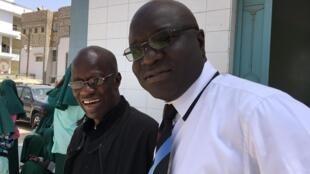 Birahim Bâ et Omar Gueye à Dakar.