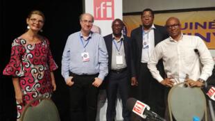 De gauche à droite : Julianna Diallo, Jean-François Cadet, Mamady Koulibaly, Ousmane Diarra, Oscar Barry.