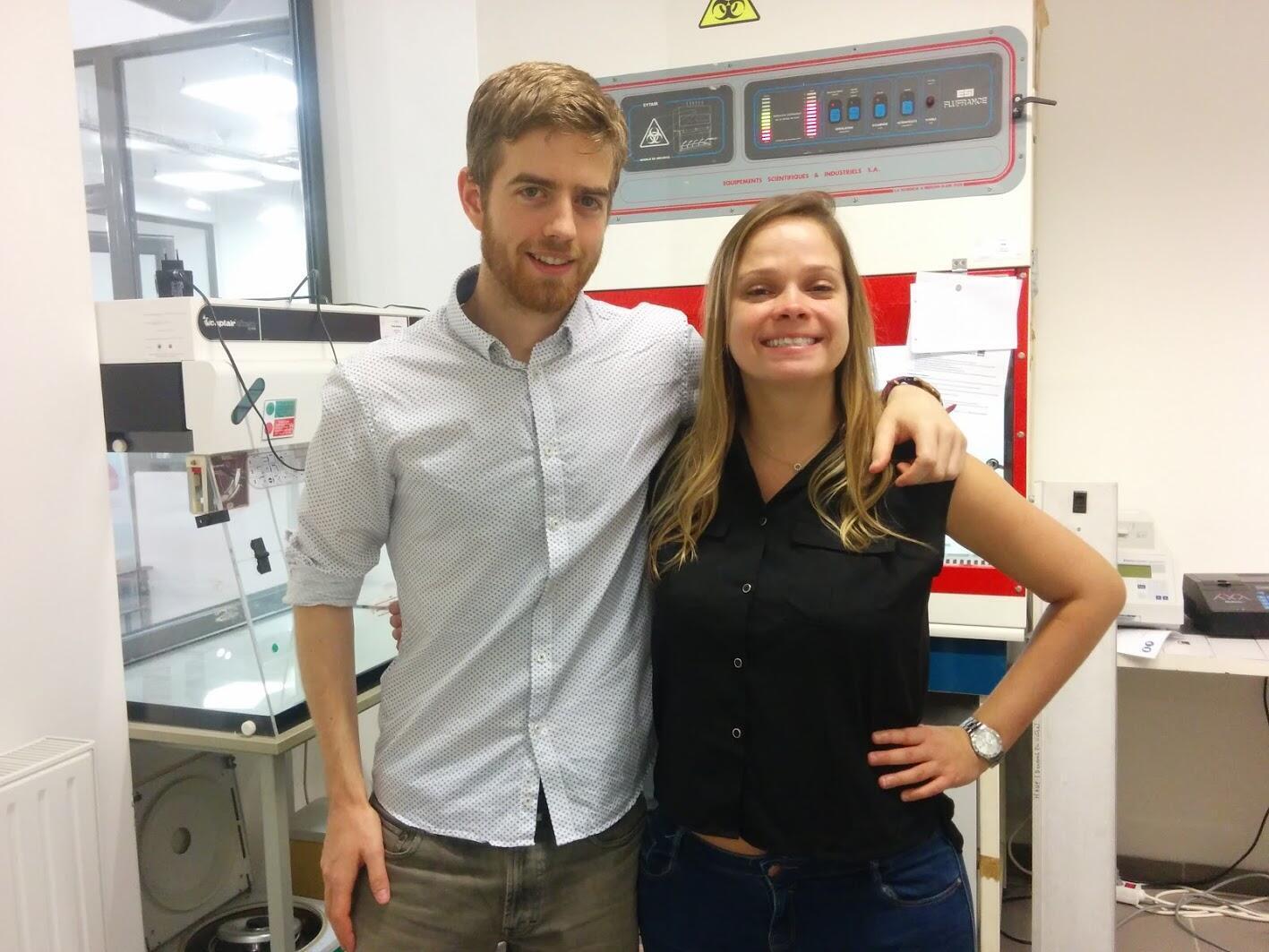 Emmanuel Thiéry e Mariana Bittencourt, membros da start-up Cophenol