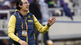 L'entraîneur de Villarreal, Unai Emery, lors du match de groupes de la Ligue Europa sur le terrain du Maccabi Tel Aviv, le 26 novembre 2020