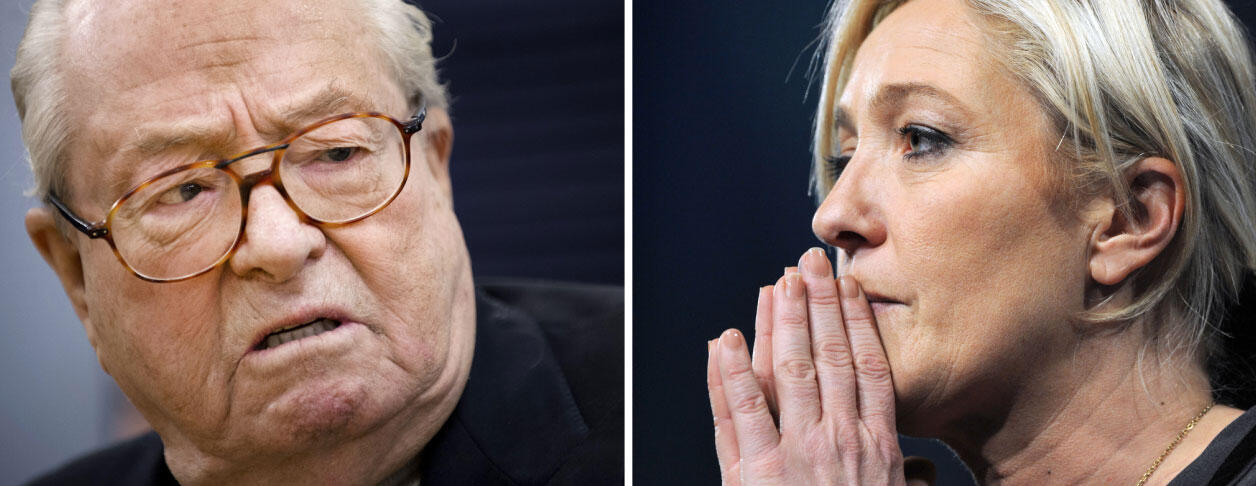 Family fued between Jean-Marie Le Pen and daughter Marine, creates tensions within the Front National party