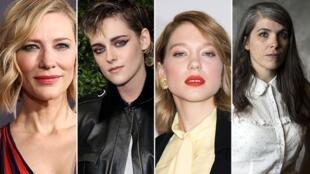 Cate Blanchett, Kristen Stewart, Léa Seydoux và Eva Husson (ảnh từ trái sang phải), những gương mặt nữ của Liên Hoan Cannes 2018.