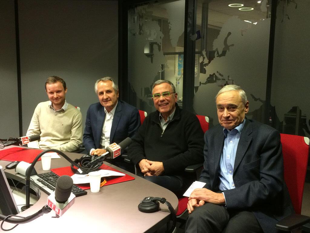 De gauche à droite : Igor Reshtnyak, Frédéric Pons, Daniel Desesquelle, Andreï Gratchev.