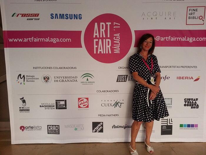 Cecilia Acevedo en la Feria de Arte Contemporaneo de Malaga (España)