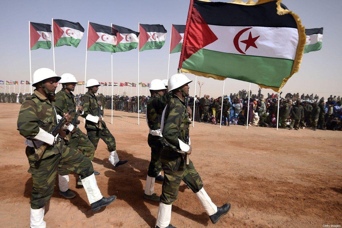 Sojojin yankin Polisario na Morocco yayin fareti