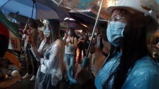 香港親民主佔中人士繼續留守九龍旺角 2014年10月22日