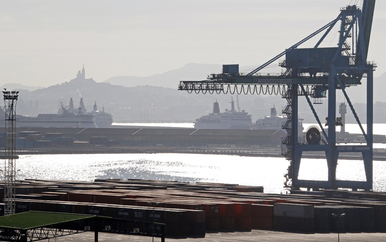 Le port de Marseille, février 2011.
