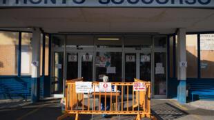 La entrada al servicio de urgencias del hospital de Locri, en la región sureña italiana de Calabria, en una imagen del 7 de abril de 2020
