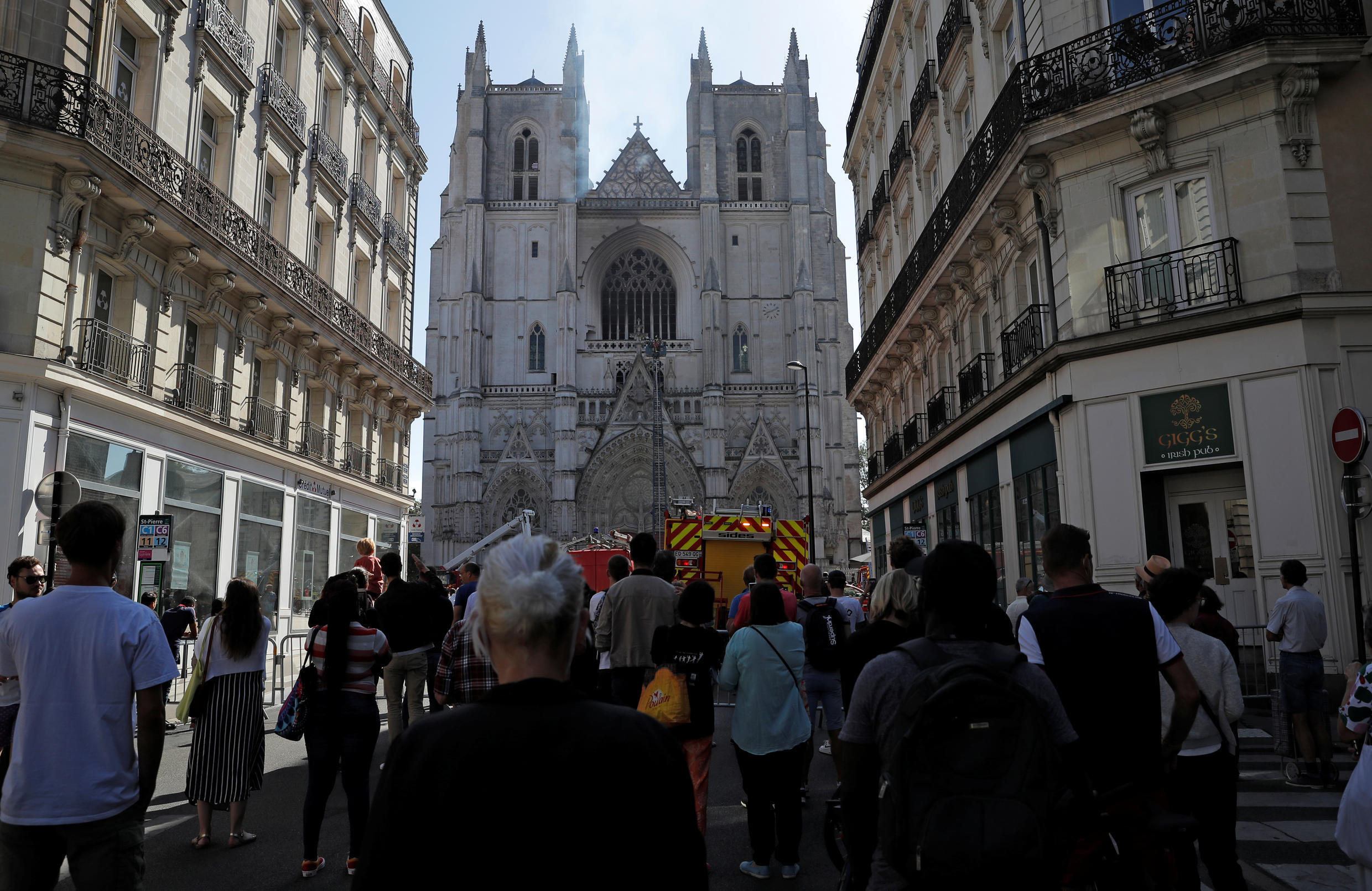 2020-07-18 FRANCE FIRE NANTES CATHEDRAL
