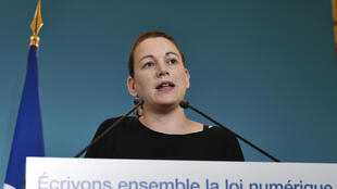 French junior minister for digital affairs Axelle Lemaire presents the plans for the internet bill on Saturday