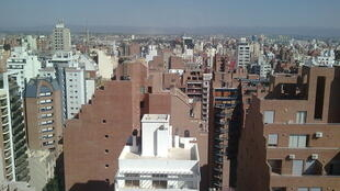 Vue aérienne de la ville de Cordoba en Argentine