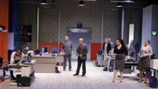 Un visuel de la pièce de théâtre «Openspace» qui se joue au théâtre du Rond Point à Paris.