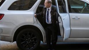 Harvey Weinstein à son arrivée au tribunal de New York, le 17 janvier 2020.