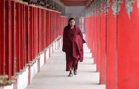 Một tu viện của người Tây Tạng tại tỉnh Thanh Hải