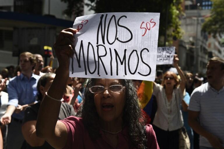 Manifestation contre Nicolas Maduro à Caracas, le 30 janvier 2019.