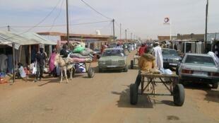Un panneau Total à Tintane, dans le sud de la Mauritanie.