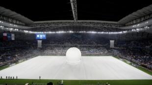 Inauguration le 16 mai 2019, du stade Al Wakrah, le premier stade pour la Coupe du monde 2022, dessiné par l'architecte irako-anglaise, Zaha Hadid.