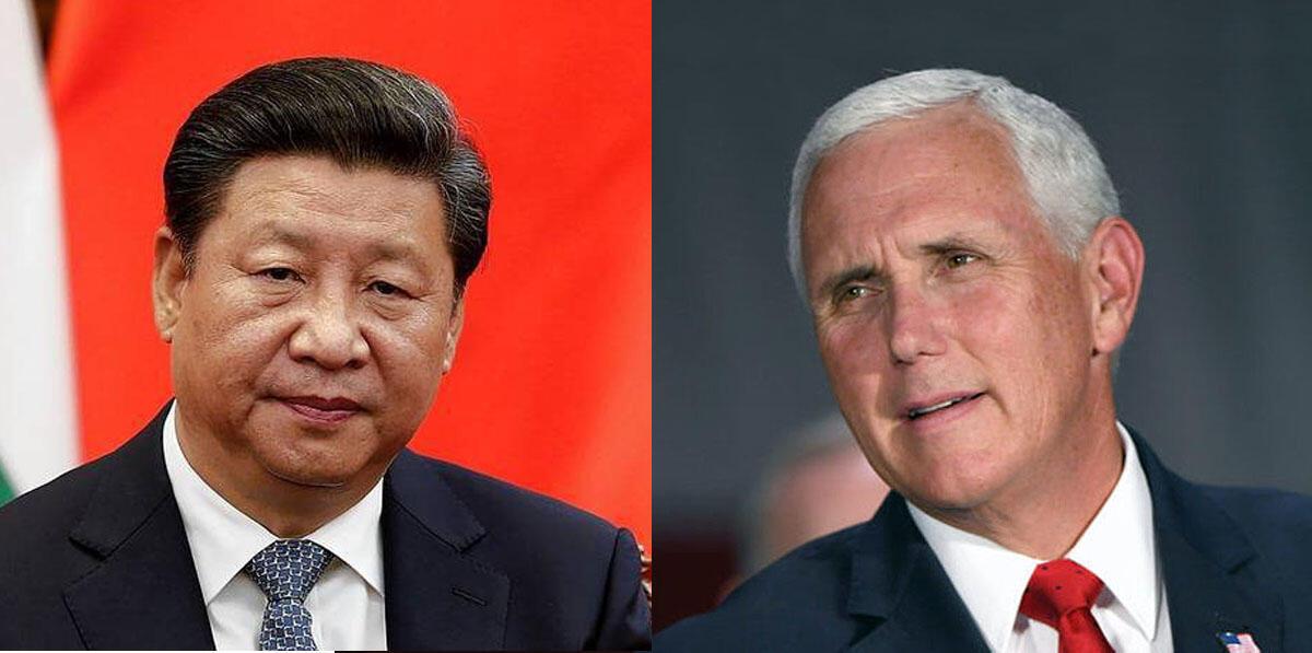 مایک پنس، معاون رئیس جمهوری آمریکا - شی جینپینگ، رئیس جمهوری چین