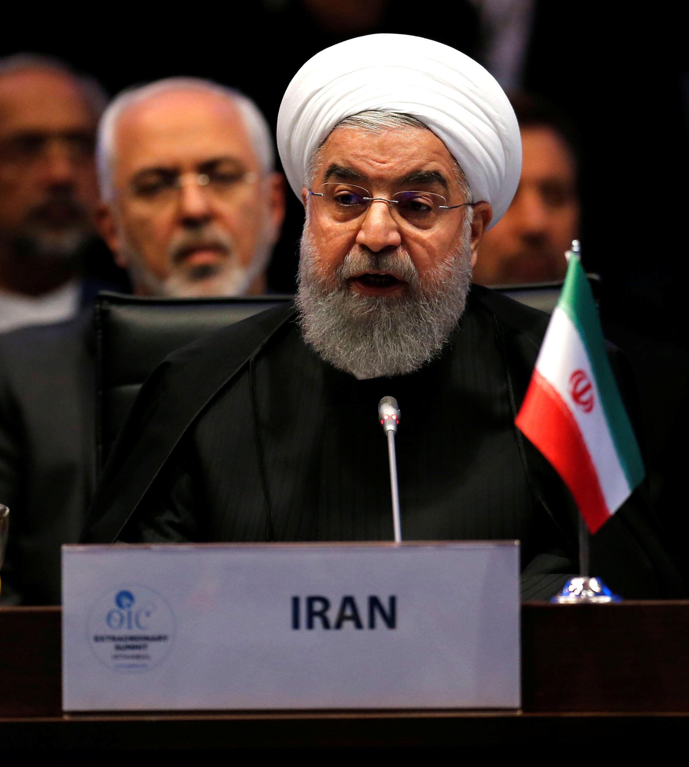 O  Presidente do Irão, Hassan Rohani.