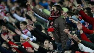 Hinchas del Spartak de Moscú.
