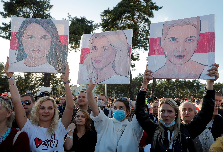 L'Echo: трем женщинам, воглаве соСветланой Тихановской,«удалось объединить оппозицию».