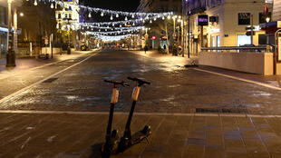 Marseille city centre, 10 January 2021, deserted under curfew