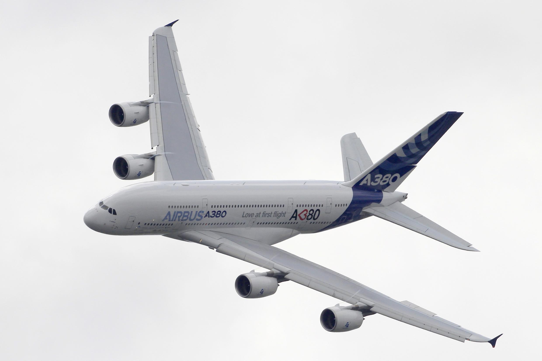 L'Airbus A380 lors du 49e salon du Bourget, le 23 juin 2011.
