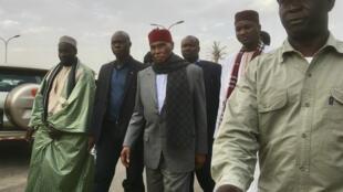 Abdoulaye Wade à son arrivée au comité directeur du PDS, le mercredi 13 février 2019.