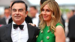Le couple Ghosn au festival de Cannes 2017 pour la présentation du film «L'Amant double».