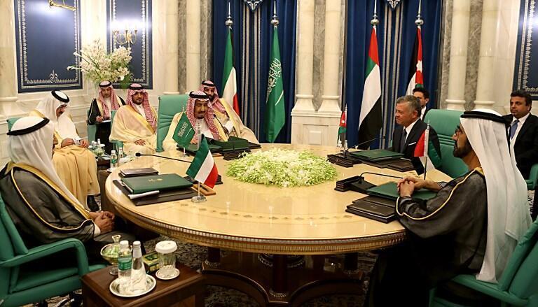 نشست چهار جانبه عربستان سعودی، امارات متحده عربی، کویت و اردن که روز یکشنبه دهم ژوئن برابر با بیستم خرداد برگزار شد