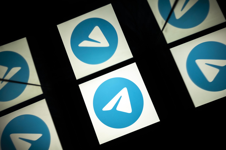 El logotipo de la aplicación Telegram, en la pantalla de una tableta el 5 de octubre de 2020 en Toulouse, al suroeste de Francia