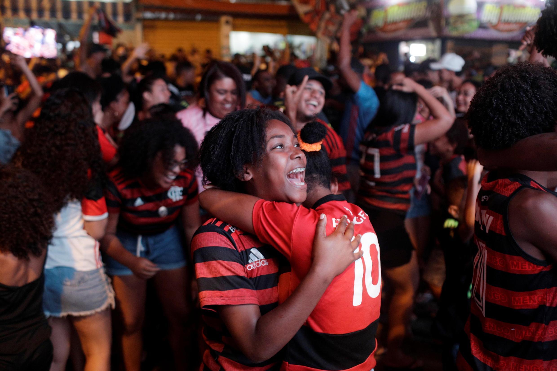 La joie des supporters de Flamengo à Rio de Janeiro, le 23 novembre 2019.