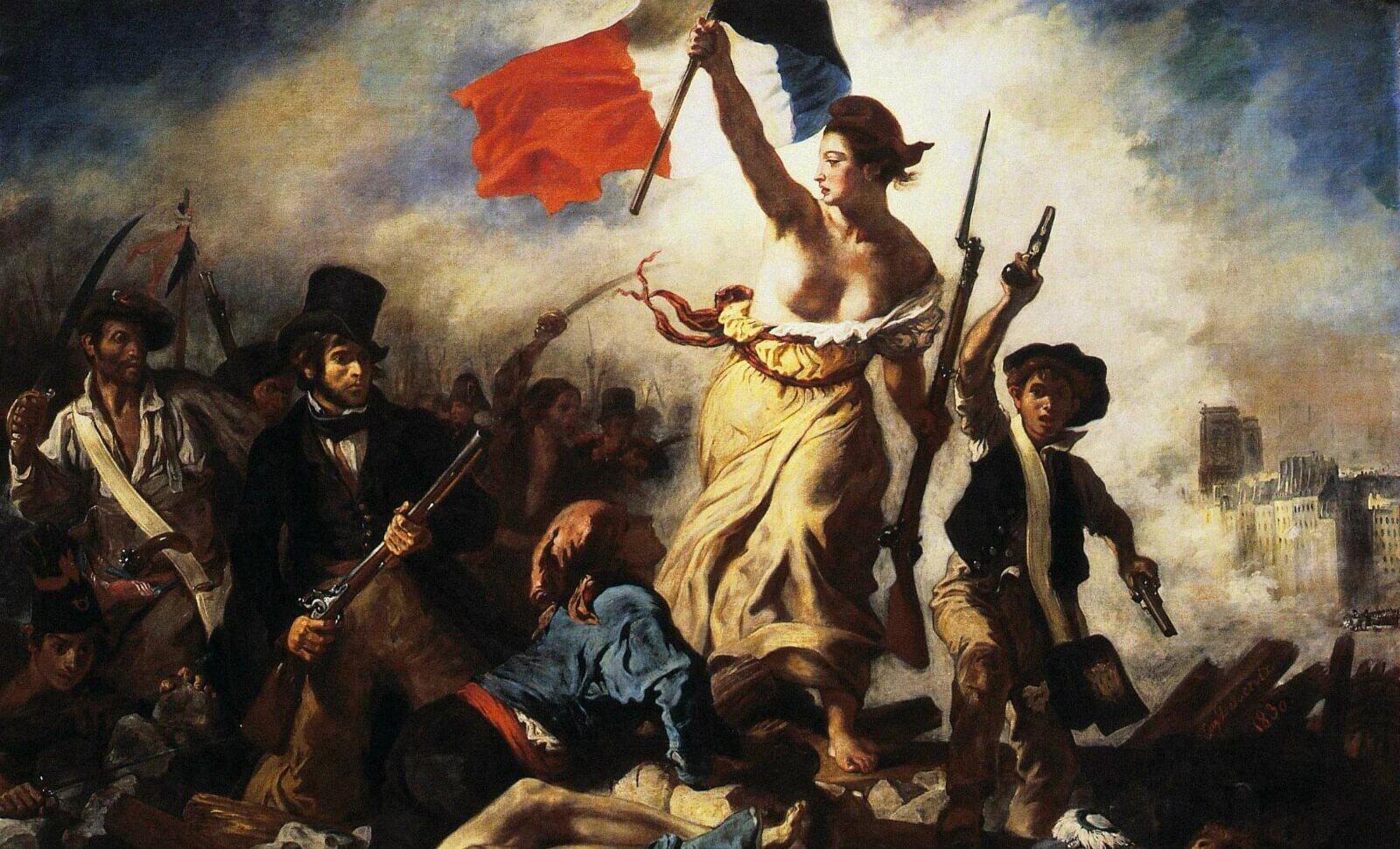 """نمایشگاه آثار اوژن دولاکروا در موزه لوور پاریس؛ تابلوی """"آزادی، هدایتگر مردم"""""""