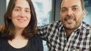 Alexandra Garcia Vilà y Martín Ernesto Mozé en los estudios de RFI?
